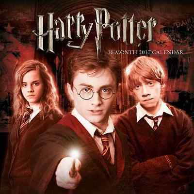 Harry Potter The Official 2017 Square Wall Calendar Ron Hermione Voldemort NEW