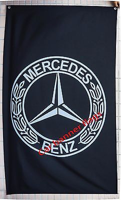 Mercedes Benz Flag Mercedes Benz car banner flags 3X5 Ft - free shipping