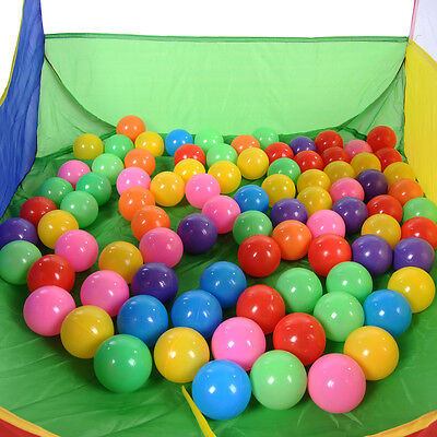 50x Colorful Soft Plastic Ocean Ball Fun Secure Baby Child Kid Swim Pit Toy Hot