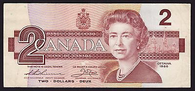Canada $2 Banknote 1986 P-94b Thiessen & Crow