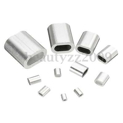 0.5/0.8/1/1.2/1.5/2/2.5/3/4/5/6mm Aluminum Oval Sleeve Crimp Ferrule Swage Clamp