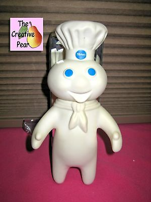 """Vintage 1971 Pillsbury Doughboy Poppin Fresh Rubber Collectible Doll Figure 7"""""""