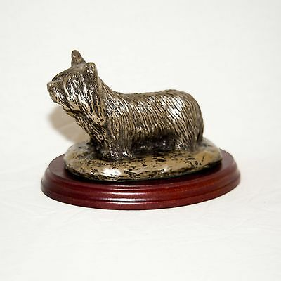 SKYE TERRIER  Bronze Figurine. Hand made in England. Ideal gift.