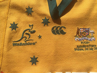 Authentic Wallabies Players Jersey - Worn By Mat Rogers