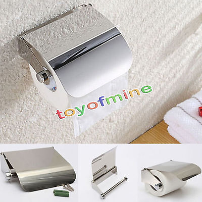 Wall Mounted Toilet Roll Holder Bathroom Accessory Toilet Roll Dispenser