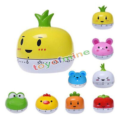Kitchen Egg Timer 60 Minutes Cute Vegetables Cooking Mechanical Home Decor Hot