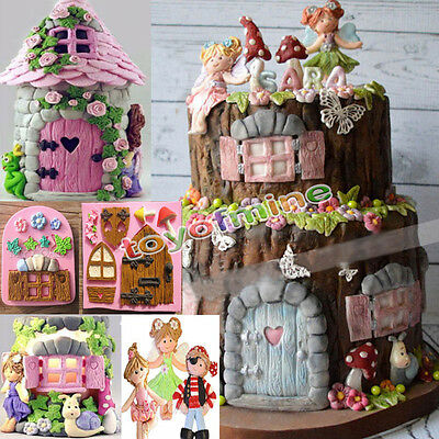 3D Elf Fairy House Door Silicone Fondant Cake Mold Chocolate Mould Baking Tool