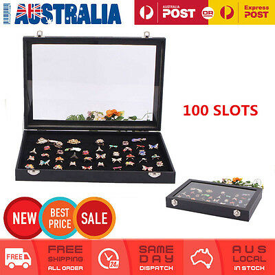 100 Slot Ring Earring Holder Jewellery Display Storage Box Show Case Organiser