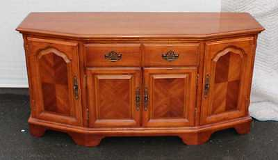 Solid Mahogany Bow fronted shape Sideboard with cupboards and Drawers.