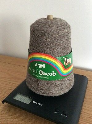 4 Ply Machine Knitting Wool Brushed Jacob Colour Grey By Argyll