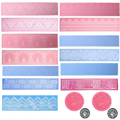 DIY Lace Silicone Mold Mould Sugar Craft Fondant Mat Cake Decorating Baking Tool