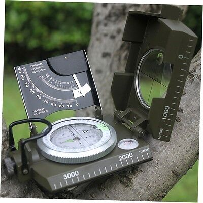 Professional Military Army Sighting Luminous Compass with Inclinometer ZX