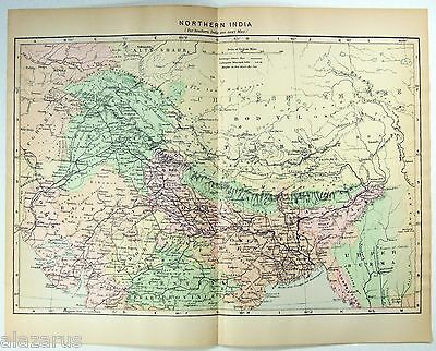 Original Johnson's 1896 Map of Northern India