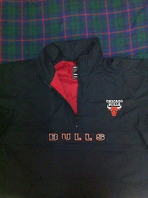 Vintage Mens Chicago Bulls Nutmeg Black Jacket Basketball NBA L  90's Jordan