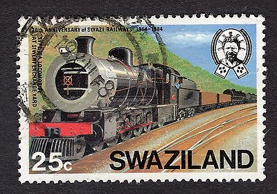 1984 Swaziland 25c type 15a Locomotive SG467 FINE USED R29963