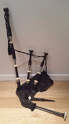 Alan Logan Vintage Bagpipes - full set including case and extras