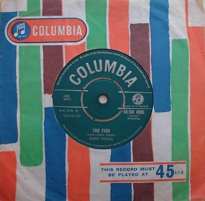 Bobby Rydell, The Fish / The Third House, Columbia, 7Inch 45Rpm