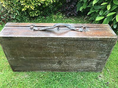 Vintage old wooden carpenter's joiner's tool box