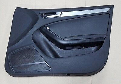 Audi A5 Sportback Os Drivers Right Front Door Card Rhd Black Leather
