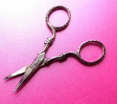 Antique Victorian  Sewing Scissors,decorated Handles