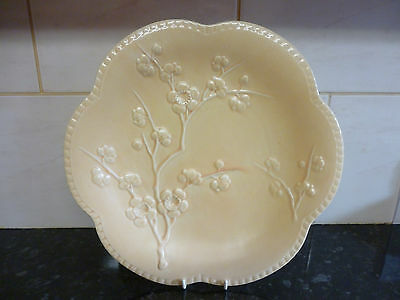 "Stunning Vintage Shorter & Son Pottery Blossom Flowers Wall Charger 12"" ~No 386"