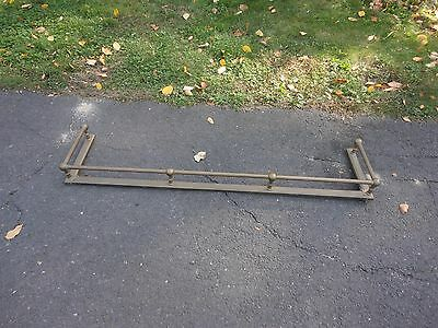 "Antique Solid Brass Fireplace Fender Hearth Surround Guard Rail  54"" x 12"""