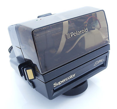 Rare Polaroid Supercolor Elite with Transparent Top 600 Instant Film Camera+Box