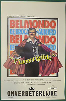 L'INCORRIGIBLE (1975) Original Belgian Cinema Movie Poster - Jean-Paul Belmondo