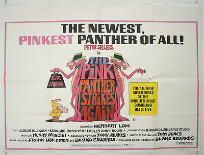 THE PINK PANTHER STRIKES AGAIN (1976) Original  Quad Film Poster - Peter Sellers