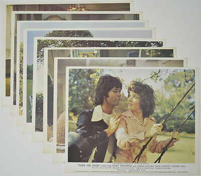 TAKE ME HIGH (1973) Set of 8 Colour FOH Stills / Lobby Cards - Cliff Richard