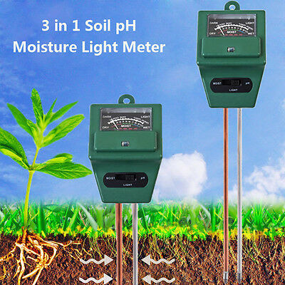 BG10 3 in 1 Garden Soil Analysis Tester Hygrometer Acidity PH Light Test