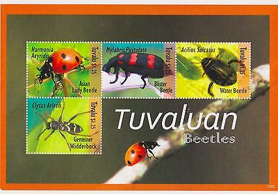 Tuvalu - Insects, Beetles, 2012 - Sheetlet of 5 MNH