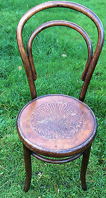 Vintage Antique Fischel Thonet Bentwood Bistro Cafe Chair - In Good Order