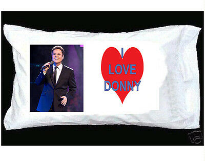 I Love Donny Osmond Pillowcase With Big Red Heart