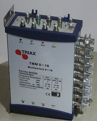 Triax TMM 9 x 16 CASCADABLE MULTISWITCHES