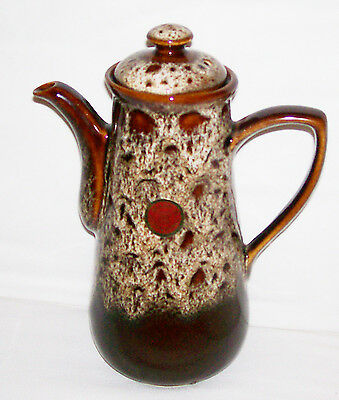 Fosters Pottery Cornwall England Honeycomb Drip Ware Coffee Pot Original Label