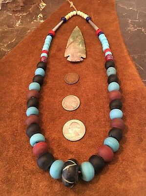 OLD TRADE Bead NECKLACE Hudson Bay FUR TRADE RENDEZVOUS MTN MAN 24LString/strand