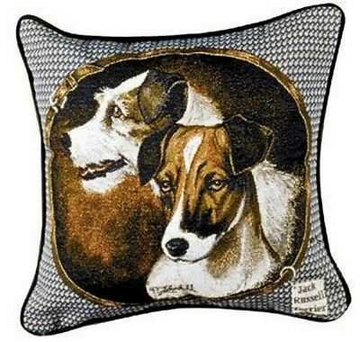 Jack Russell Terrier Tapestry Throw Pillow Dogs New 17x17