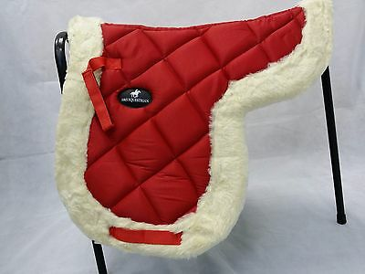 New Cotton Quilted Round Saddle Pad Numnah Soft Fur Rimmed VARIOUS CHOICES