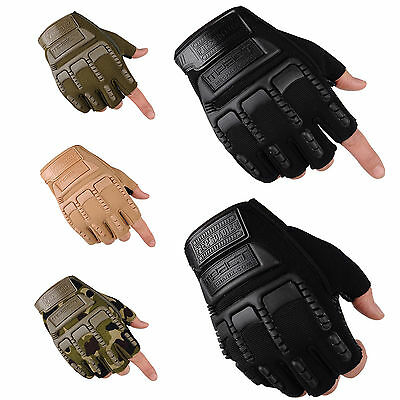 NT Outdoor Tactical Military Working Half Racing Cycling Finger Gloves Mittens