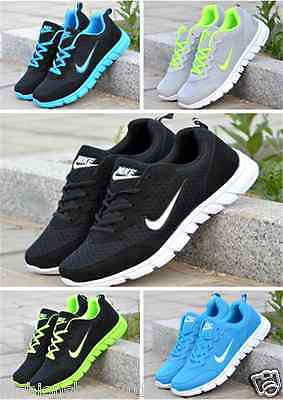 Women Ladies Striped Sport Running Sneakers Trainers  trainers Shoes AA