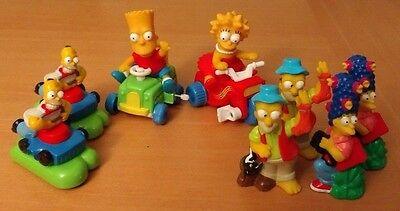 Lot Of 8 Simpsons Toys / Figurines Including Burger King Toys And Wind-Up Toys