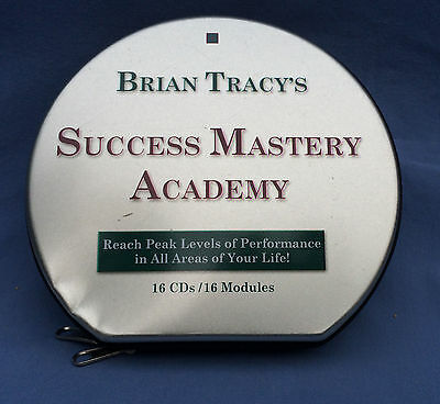 16 CD Set Brian Tracy's Success Mastery Academy In Aluminum Case Nice