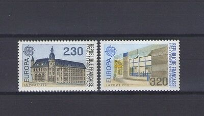 France, Europa Cept 1990, Post Office Buildings, Mnh