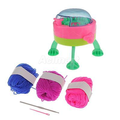 Scarf Hat Sock Knitting Machine Spaceship Loom Weaver Toy w/ Giftbox for Kid