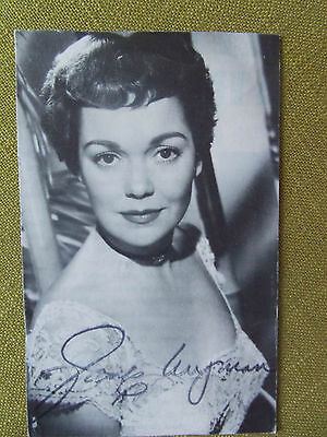Vintage Picture: Jane Wyman with stamped signature 50s actress movie star