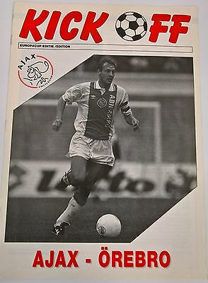 NETHERLANDS CLUBS HOME AND AWAY EUROPEAN COMPS PROGRAMMES AJAX, PSV, SPARTA etc