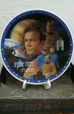 Star Trek Porcelain Mini Plate Capt James T. Kirk Paramount 1994