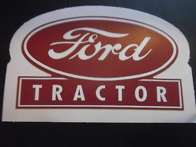 Vintage Deep Red Ford Tractor logo sign vinyl Decal Sticker