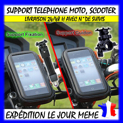 Support telephone housse etanche support GPS MOTO VELO SCOOTER guidon